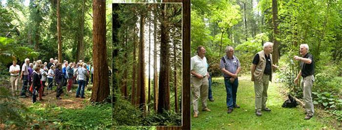 Links: De Sequoia-farm in Nettetal-Kaldenkirchen Rechts Wilbert Hetterscheid bedankt Ado Lappen voor de rondleiding
