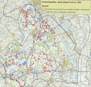 Voorbeeld uit de <i>Atlas van het landschappelijk groen erfgoed van Nederland</i> (Drenthe)